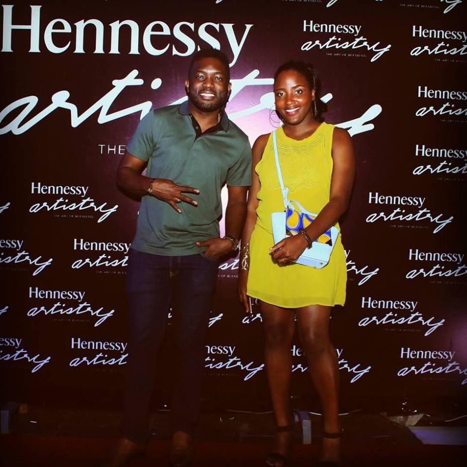 Paola Audrey et Florent Dikoumé à la soirée organisée par Hennessy.jpg