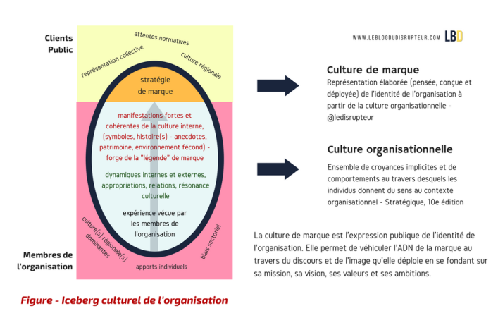 Figure - Iceberg culturel de l'organisation